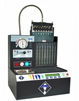 Fuel injector flow testing and cleaning equipment