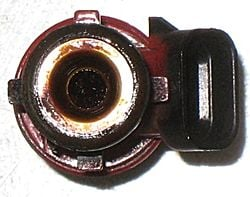 Clogged fuel injector filter basketside
