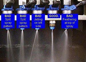 fuel injector bad spray pattern