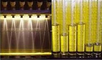 Visual spray pattern and flow testing before fuel injector cleaning